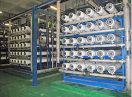 四川虹欧显示器件有限公司水处理设备安装成功